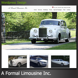 A formal limousine Web Design