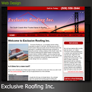Exclusive Roofing Inc Fall River Website Design