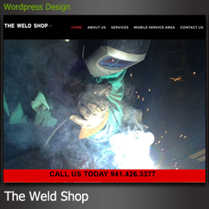 The Weld Shop North Port FL Website Design